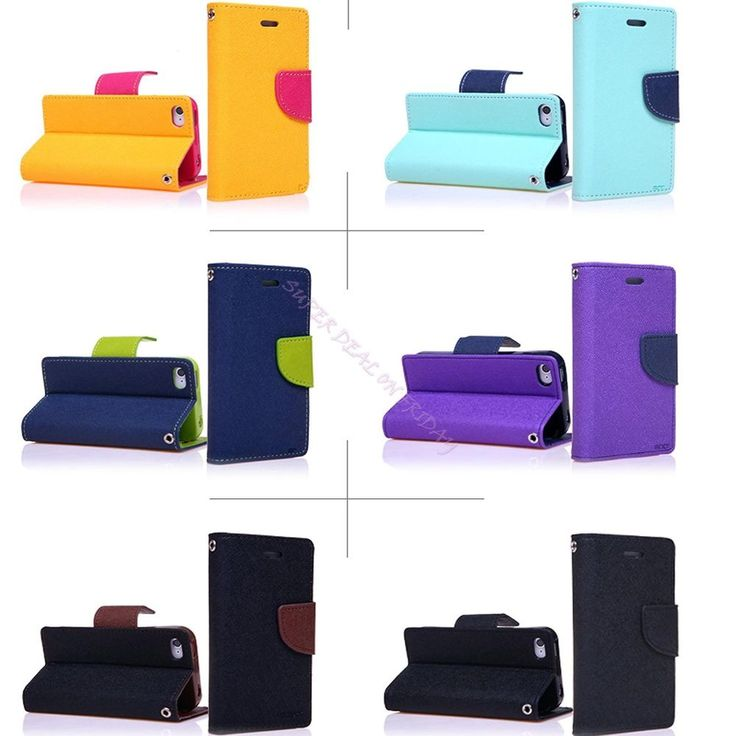 Synthetic Leather Flip Stand Wallet Case Hard Cover Protector For Apple Iphone 6