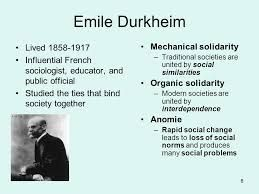 a critical view of emile durkheims theories of sociology Sociology: deviance study play  4 main characteristics of deviance according to the sociological perspective  acc to social control theory, even though most.