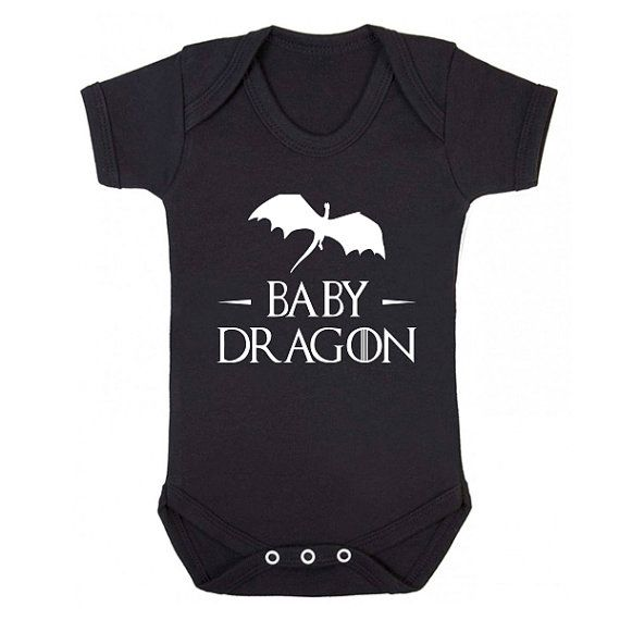 Baby Dragon Mother of Dragons baby grow by BreadandButterThread, $12.99