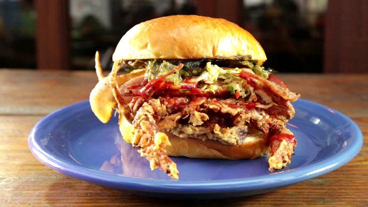 San Francisco's Adam's Grub Truck serves a tasty, deep-fried soft shell crab.