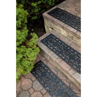 Entryways Black Fleur Di Lys Stair Tread