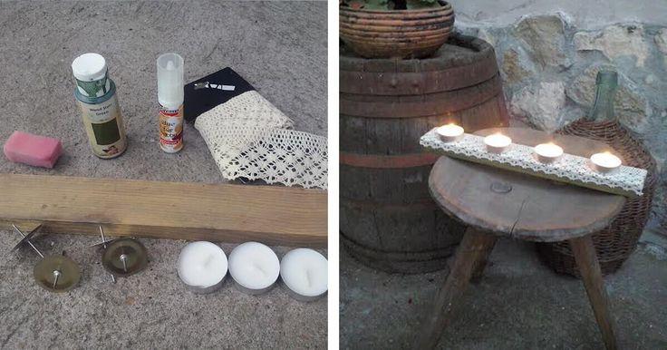 """Mécsestartó készítése a DIY rovatunk következő cikkének a témája. Igazán """"filléres"""" megoldással készíthetünk igazán dekoratív mécsestartót."""