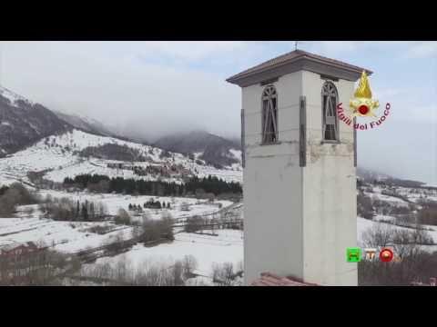 Vigili del Fuoco - Campotosto - Vista dal drone dello smontaggio control...