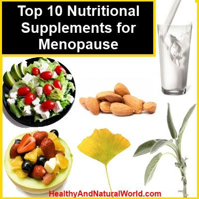 Top 10 Nutritional Supplements for Menopause. The menopause marks the time in a woman's life when her menstruation stops and it signals the end of fertility . Menopause typically occurs in women in midlife, during their late 40s or early 50s.  It has physical and emotional symptoms which may disrupt your sleep, cause hot flashes, lower your energy or trigger anxiety or feelings of sadness and loss. Menopause is a natural biological process, and although it ends fertility, you