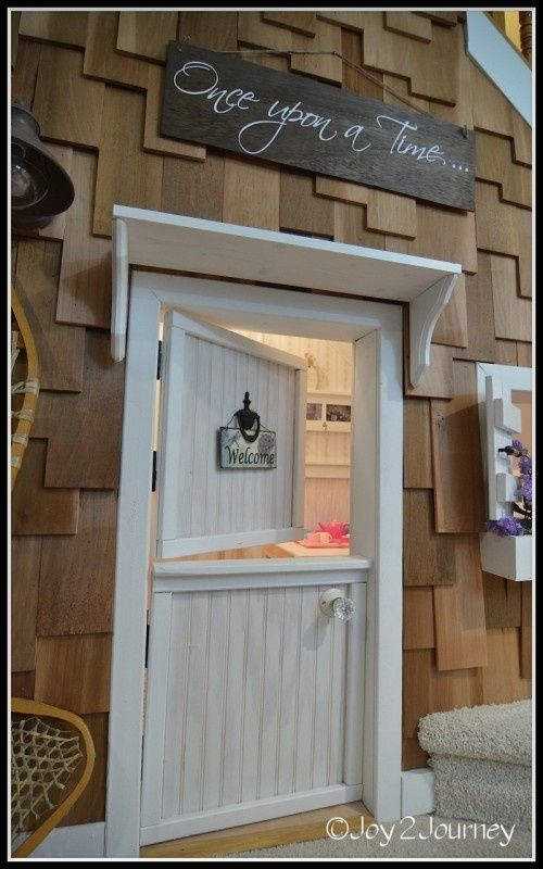 Under Stairs Playroom | Dutch door