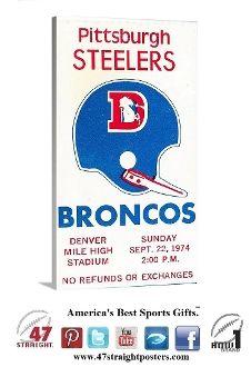 Denver Broncos gifts, Unique Denver Broncos gifts, Denver Broncos man cave, NFL man cave ideas, Unique NFL art, Football man cave ideas, Den...