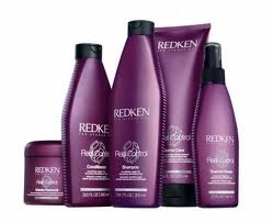 Redken Real Control Shampoo and Conditioner.  Great product for course dry hair.  Helps hydrate unruly hair while helping increase manageability and shine.  Helps strengthen hair from the inside out!