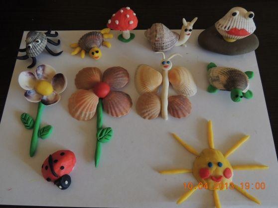 Детские поделки - Морская фантазия, или поделки из морских ракушек