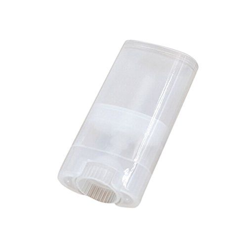 Healthcom Deodorant Containers New Empty Oval Lip Balm Tubes Clear Plastic Deodorant Container,15ml,8 Pcs,Transparent