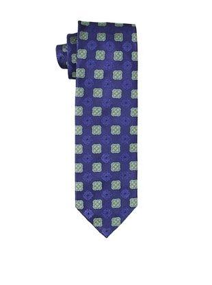 Massimo Bizzocchi Men's Medallion Tie, Blue