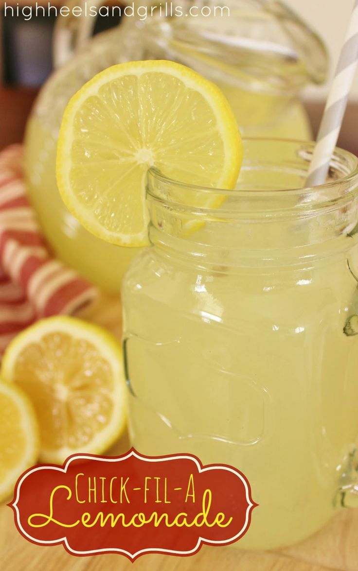 Chick-fil-A Lemonade. This tastes just like the real stuff! http://www.highheelsandgrills.com/2013/04/chick-fil-lemonade.html