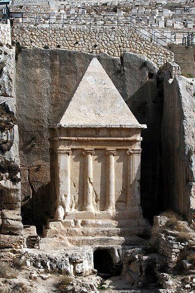 Tumba del Profeta Zacarías en el Valle de Cedrón, Jerusalén.