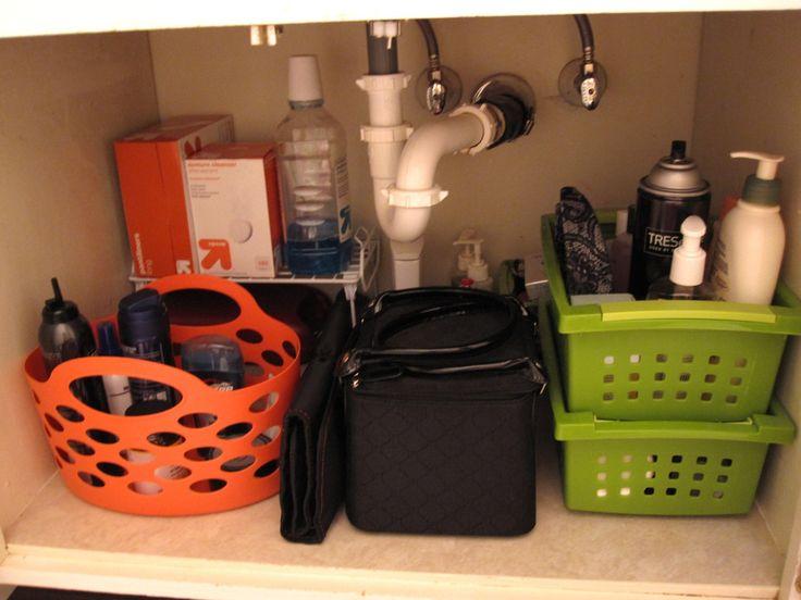 Organizing Under the Bathroom Sink - Ask Anna