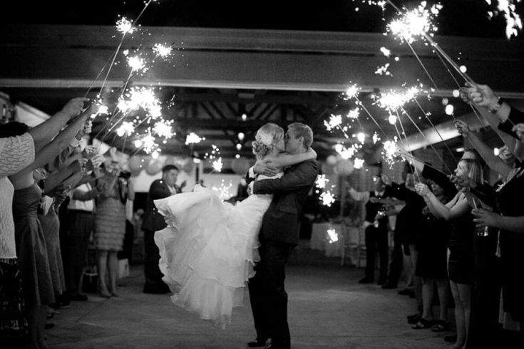 The Most Magical Sparkler Send-Off Ideas: http://www.stylemepretty.com/2016/01/06/best-sparkler-wedding-exit-send-off/