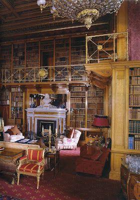 Alnwick Castle Library. Alnwick, Northumberland, England.