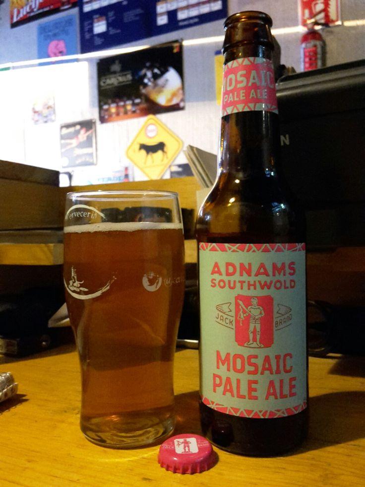 Jack Brand Mosaic Pale Ale. English Pale Ale Adnams Brewing, UK.
