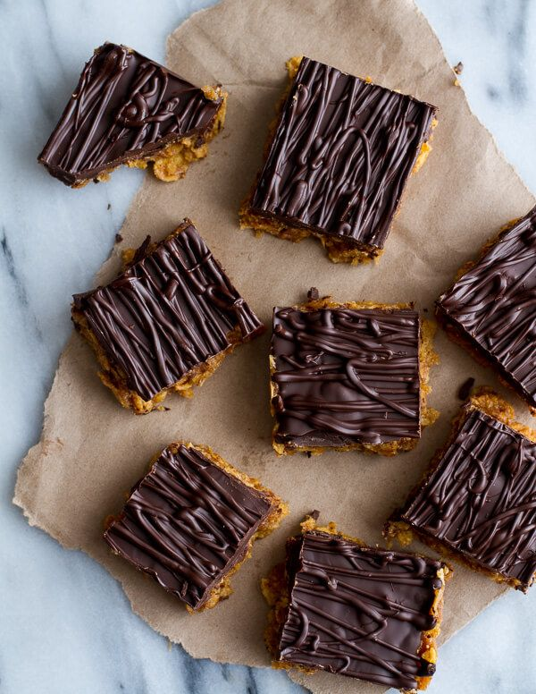 Super Healthy Peanut Butter Date Special K-Bars | halfbakedharvest.com