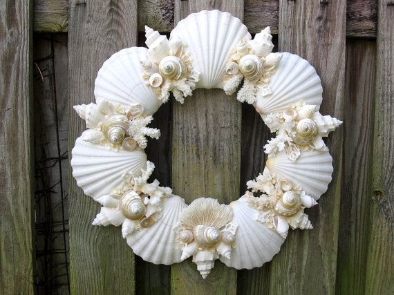 SEASHELL Wreath  flights white and Seashells  uk           cheap   pearled PinkPelicanDesigns  Lolly  by WREATH and Wreaths Seashell air with