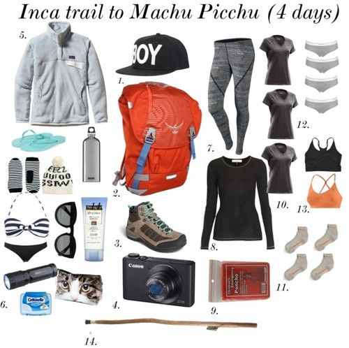 Machu Picchu by evelynmarie featuring Patagonia fleece top So three of my friends are hiking the Inca trail this summer! They've all come to me with questions since Nick and I hiked the trail during...