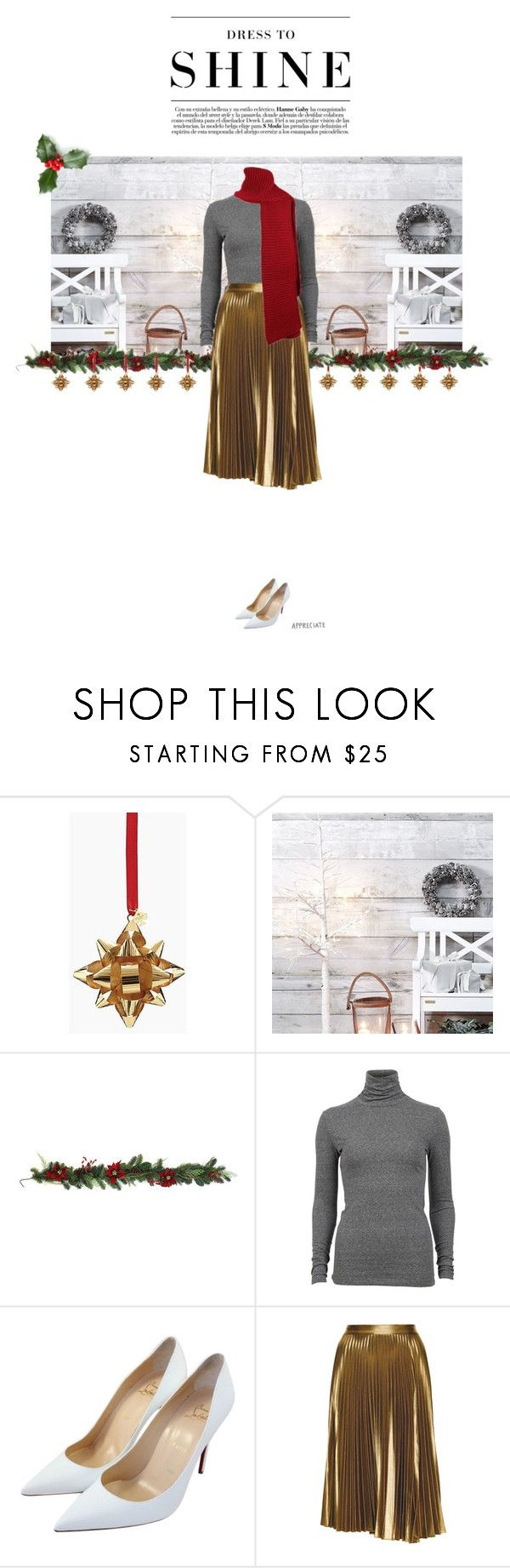 """""""Happy Holidays!"""" by ndilettante ❤ liked on Polyvore featuring Kate Spade, Jaclyn Smith, Designers Remix, Christian Louboutin, Levi's, A.L.C., Louboutin, christmasparty and Christmas2015"""