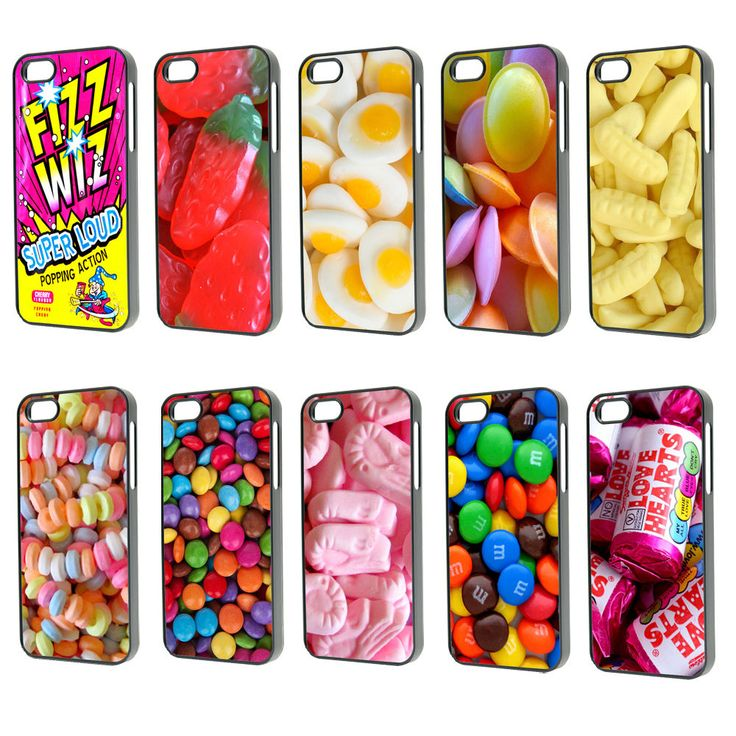 Cool food candy sweets chocolate love hearts Phone Case Cover iPhone 4 4s 5 5s