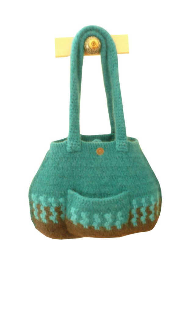 gefilzte Frauen Handtasche petrol funky von anukistyle auf Etsy