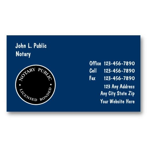 25 best notary public business cards images on pinterest notary business cards reheart Choice Image