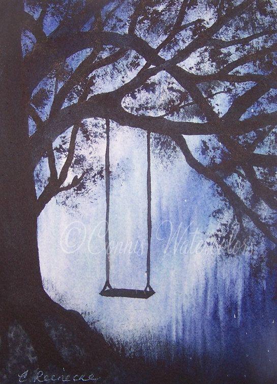Watercolour Painting - Solitude