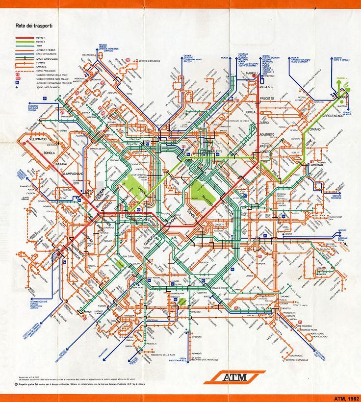 """Rete dei trasporti (""""Transport Network""""), Milano, 1982"""