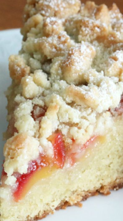 Cherry Marzipan Streusel Cake -- includes a link to a recipe for homemade marzipan.