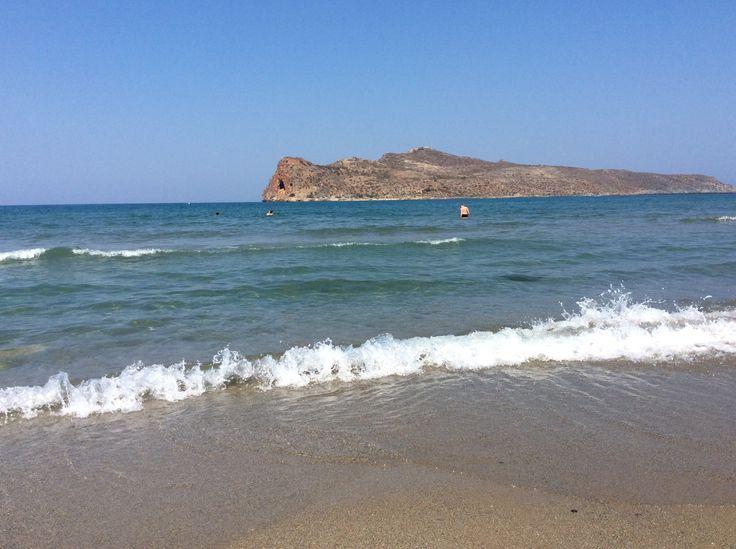 Aghia Marina has one of the most beautiful beaches of Chania/Crete.