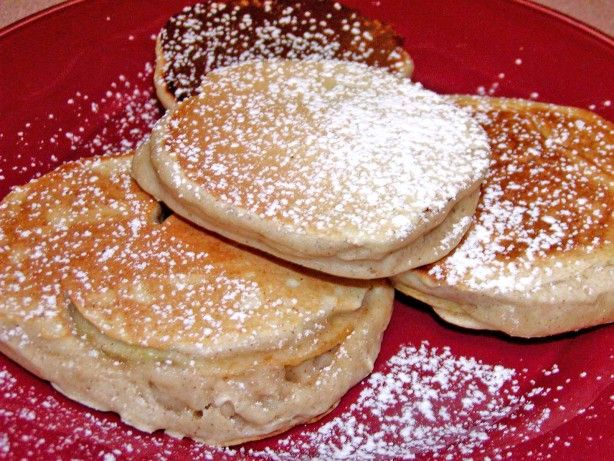 These pancakes have a unique flavor and texture that make them really something special. They have less flour than traditional pancakes so are not so cake-like. They can be eaten on the go without syrup and are very tasty. My whole family loves them.