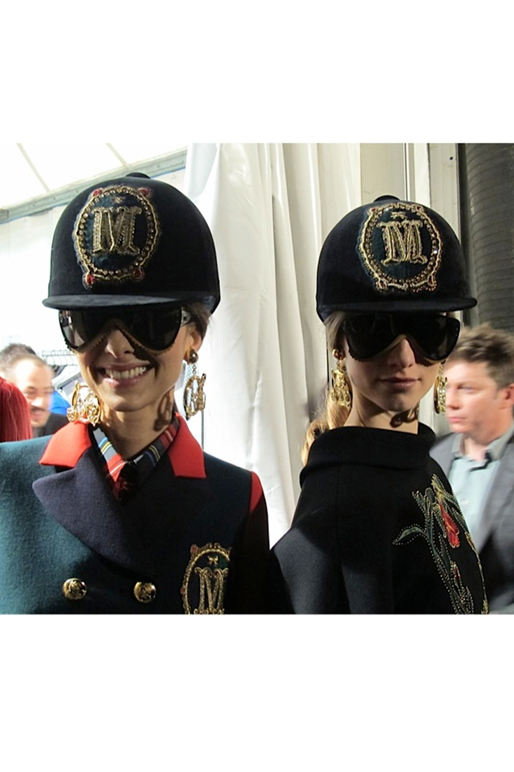 My favourite pic of all the fashion weeks! Rah rah, Moschino!