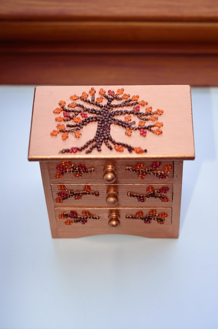 Wooden craft boxes to decorate - Self Decorated Wooden Box