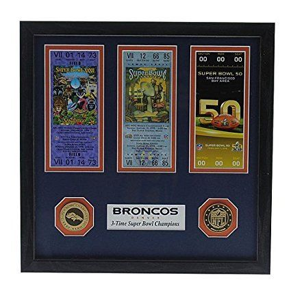 Denver Broncos Super Bowl 50 Champions Signature Ticket  Licensed NFL Football Gift ** Read more reviews of the product by visiting the link on the image.