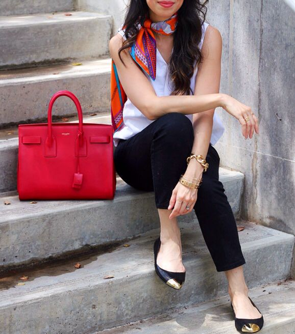 YSL Sac Du Jour in red | Currently coveting | Pinterest | Saint ...