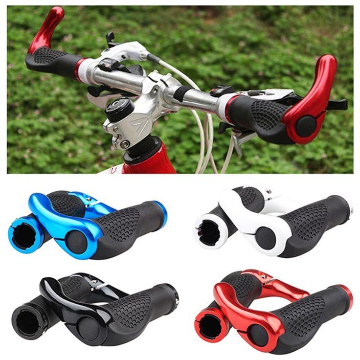 Bicycle Bike Components Bar Ends MTB Handlebars Rubber Grips Aluminum Barend Handle Bar Ergonomic Push On Soft Grips