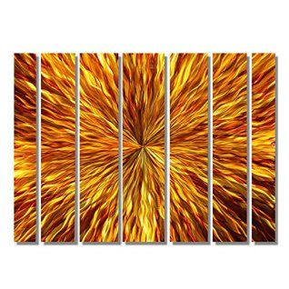 Orange wall art is the perfect type of fall wall art to use  in your home.  In fact fall canvas art is  especially trendy this time of year.   Whether it be an orange wall clock, orange canvas art or even orange  wall hangings you will find something perfect to decorate your home for  #autumn.       Over-Sized Red, Gold & Orange Amber Modern Abstract Metal Wall Art Handcrafted Painting - Home Decor Home Accent - Amber Vortex XL by Jon Allen