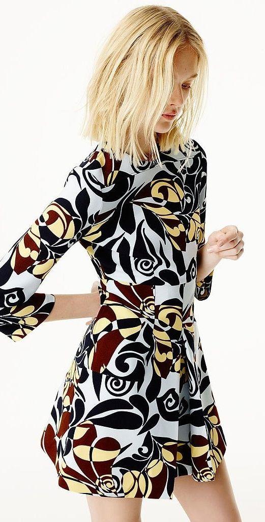 Zara Spring 2015 Lookbook: '70s floral pattern