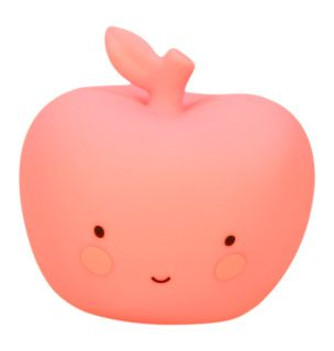 PLEASE NOTE THIS ITEM IS AVAILABLE TO PREORDER ONLY. DELIVERY EXPECTED MID FEBRUARY  Super cute mini apple light available in two colours. Gives a nice, soft glow in the dark. The light is made from eco- and child friendly BPA- and lead-free PVC. Because there is a LED-light in it, the material doesn't get hot and can it be safely used by children.  Lovely tip: Our Little Lovely mini-lights are available in different shapes and colors. Great to mix and match or... just collect them all…