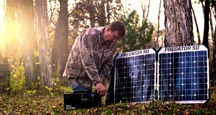 The small solar box is a safer alternative to a gas generator.