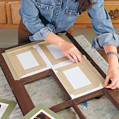 Photo: Kristine Larsen | thisoldhouse.com | from How to Make a Window-Sash Picture Frame