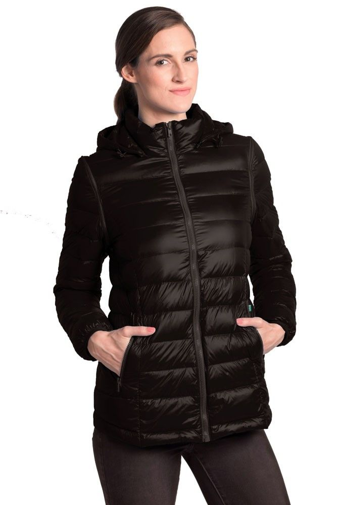 Vale 5-in-1 Lightweight Down Maternity Jacket in Black. Please use coupon code NewProducts to receive 15% off these items. To receive the discount, please place your order by midnight Monday, October 26, 2015