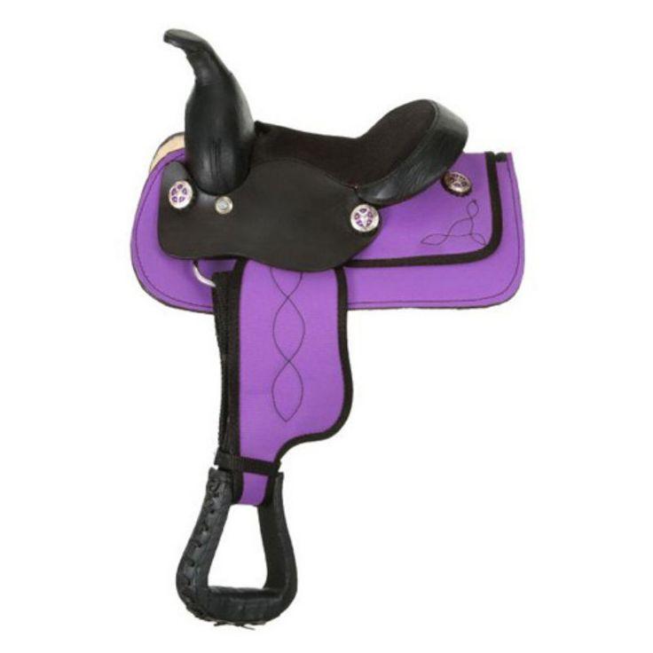 Kelly Silver Star Miniature Krypton Synthetic Saddle Set Purple - 9KS408-10-8