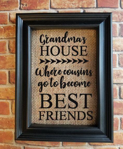 Quote on Burlap  Grandma Gift  Grandparent Gift  by VinylCraftics