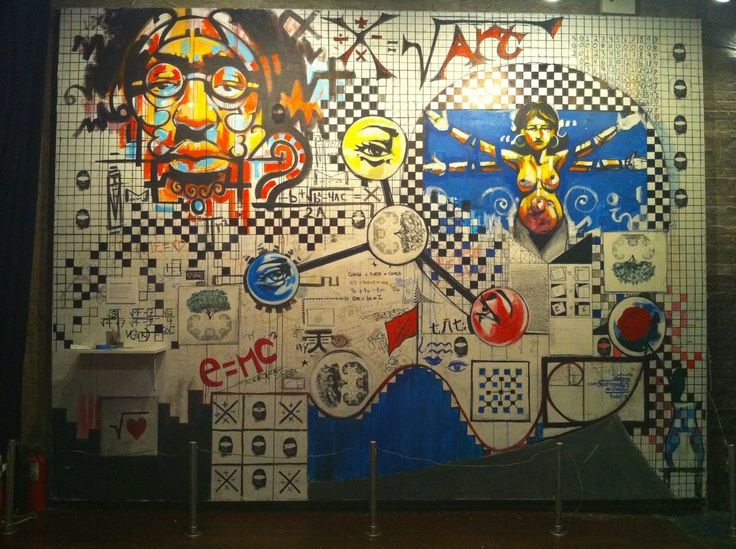 The Math-Art Graffiti Wall at the Bowery Poetry Club