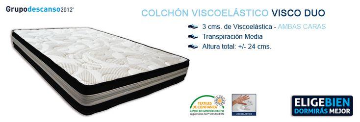 Colchón Viscoelástico VISCO DUO - http://colchonesvisco.net/colchones/colchones-viscoelasticos/colchon-viscoelastico-visco-duo/
