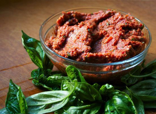 Sun-dried Tomato Pesto recipe</a> from Foodie's Arsenal</strong>
