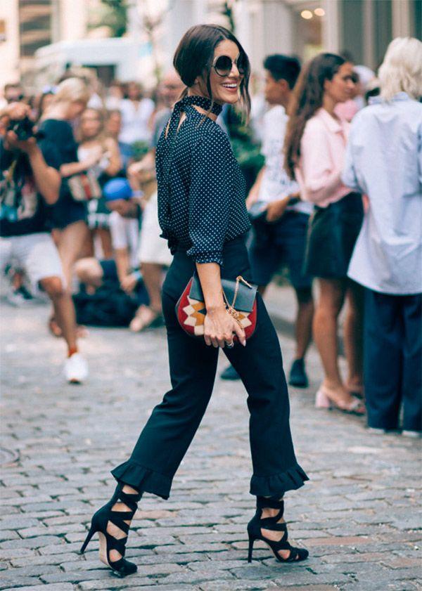 Camisa de poas, Camila Coelho, semana de moda, NYFW