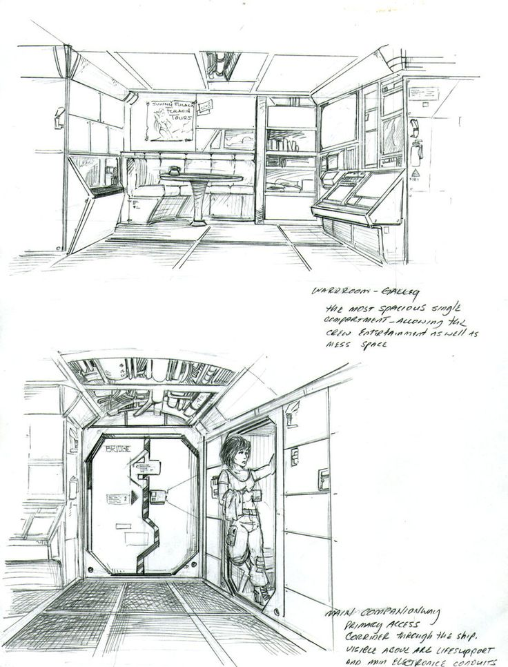 Scout Interior sketches by Sabakakrazny Interior sketch